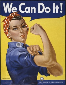 """Rosie the Riveter"" ""We Can Do It"" 179-WP-1563 WWII Poster"